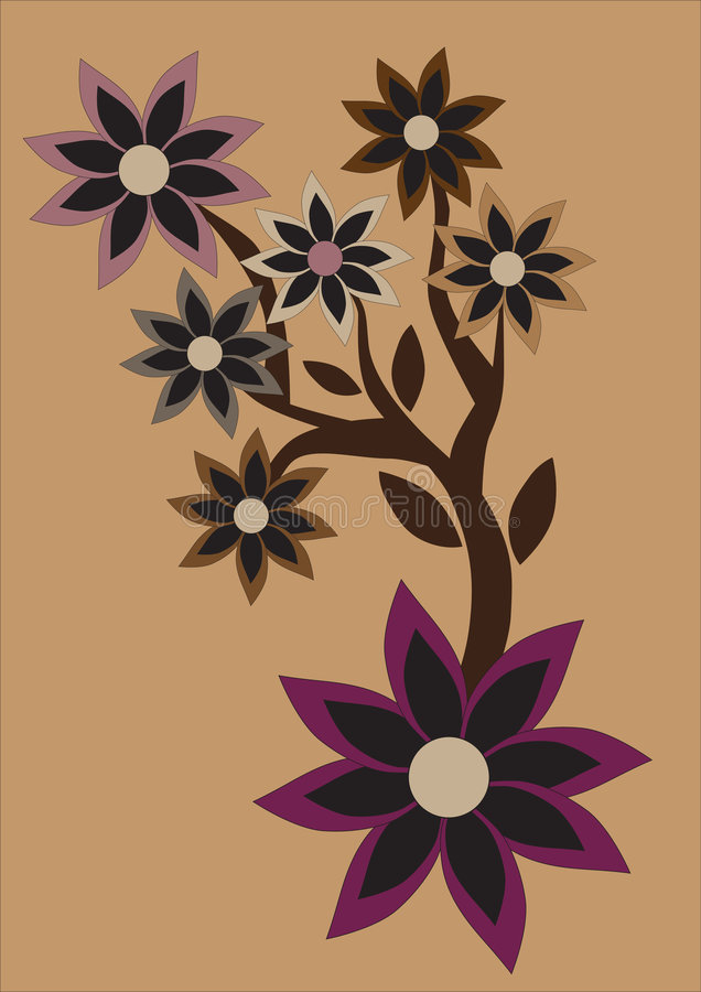 Floral abstract retro background vector illustration