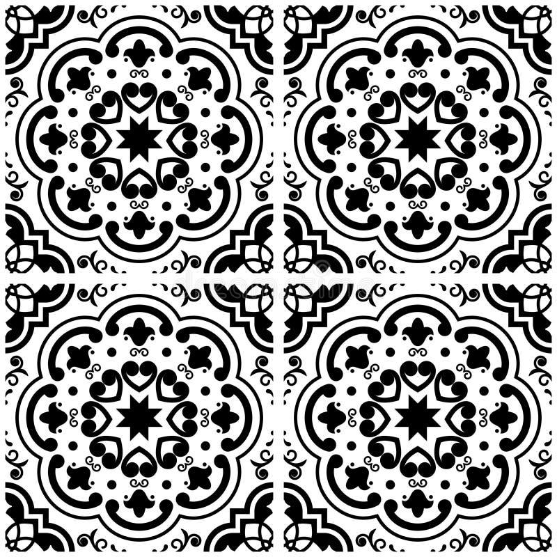 Designer White Abstract Ceramic Wall Tile Pack Of 8 L: Azulejos Portuguese Tile Floor Pattern, Lisbon Seamless