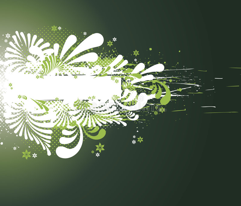 Floral abstraction. Background floral frame with place for your text stock illustration