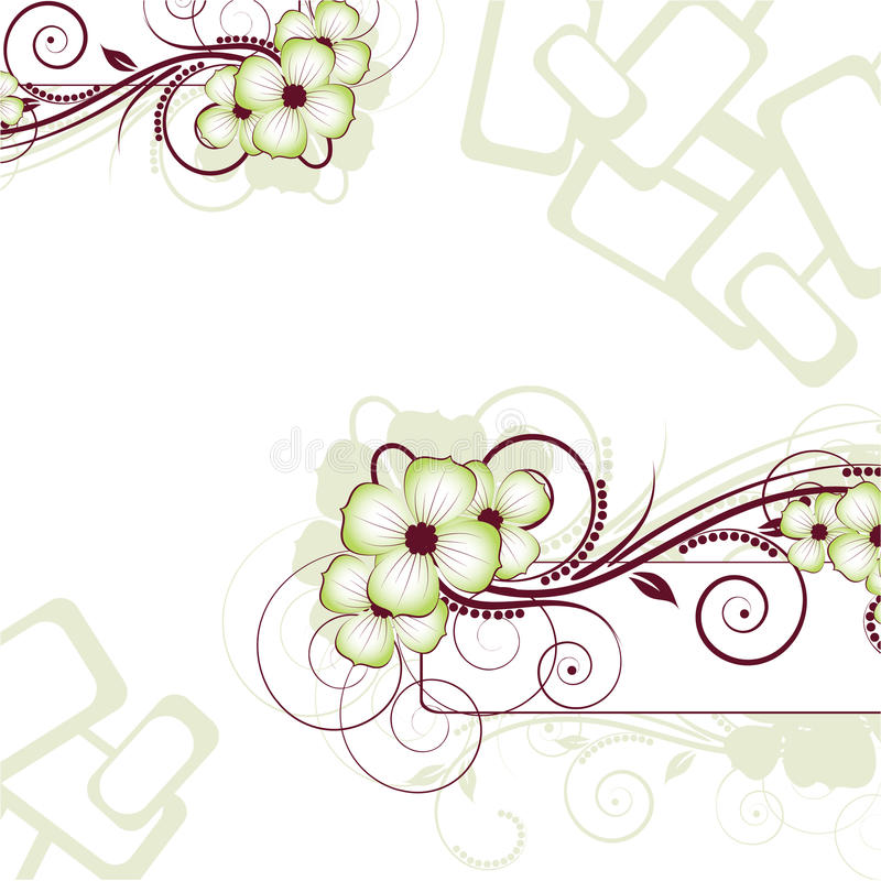 Download Floral Abstraction. Vector Illustration For Desig Stock Vector - Image: 9639592