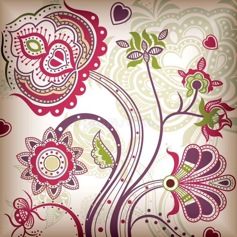 Floral abstracto libre illustration