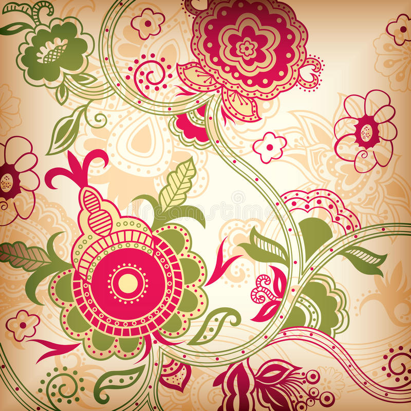 Floral abstrait illustration stock