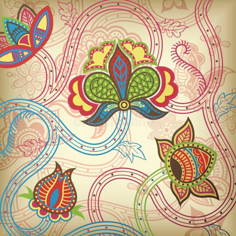 Floral abstrato ilustração do vetor