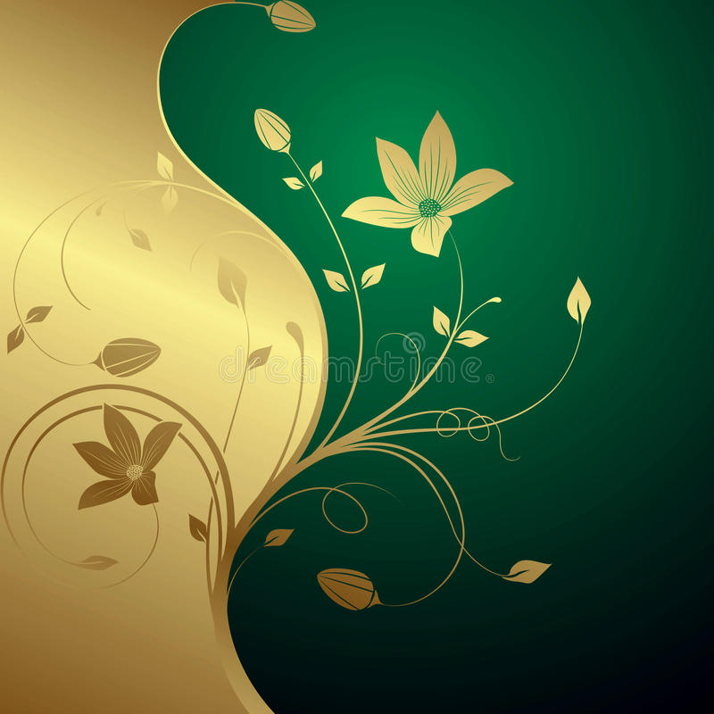 Floral abstrato ilustração royalty free