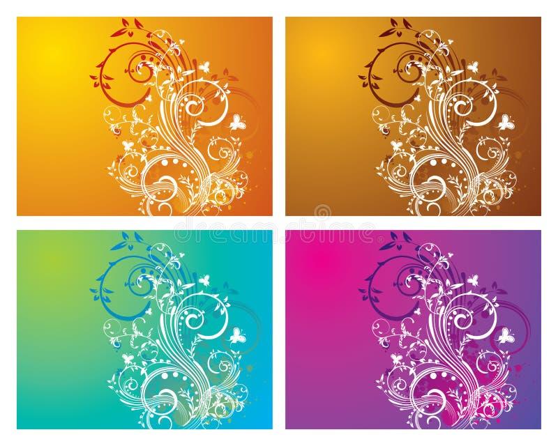 Floral & redemoinho ilustração royalty free