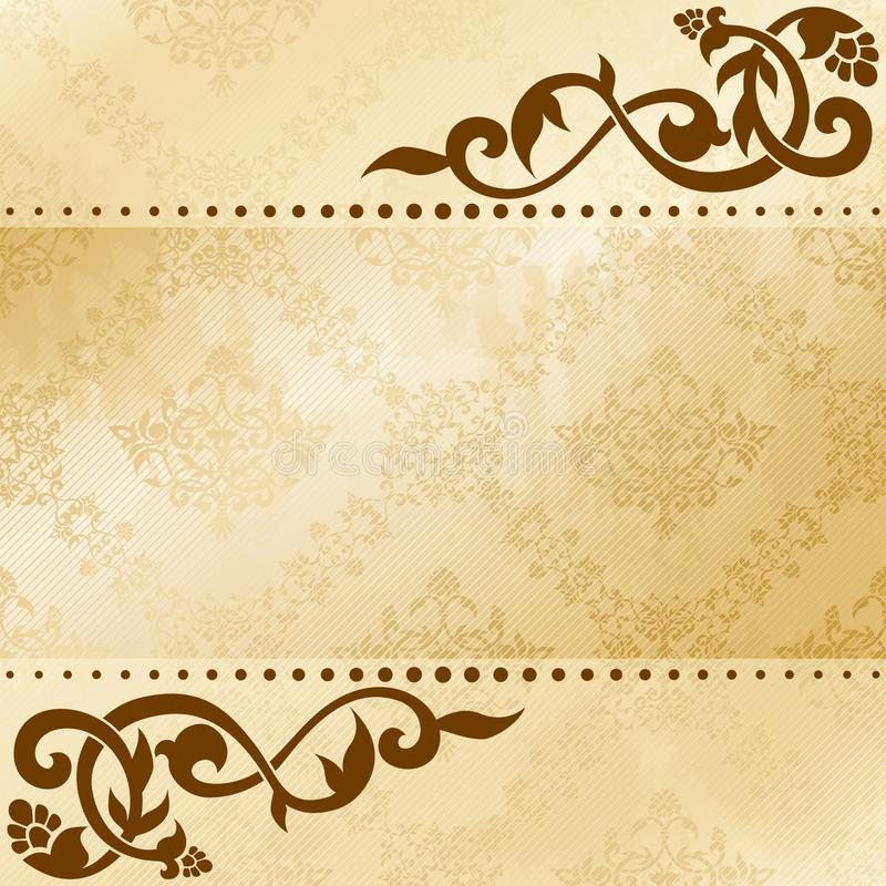 Download Floral Arabesque Background In Sepia Tones Stock Vector - Image: 21294183