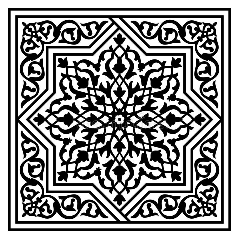 Floral arabic pattern royalty free illustration