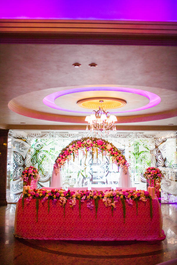 Download Floral arch and a table stock photo. Image of bouquet - 34801114