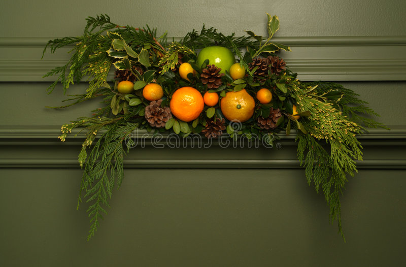 Floral Arrangement on Vintage Antique Fireplace stock images