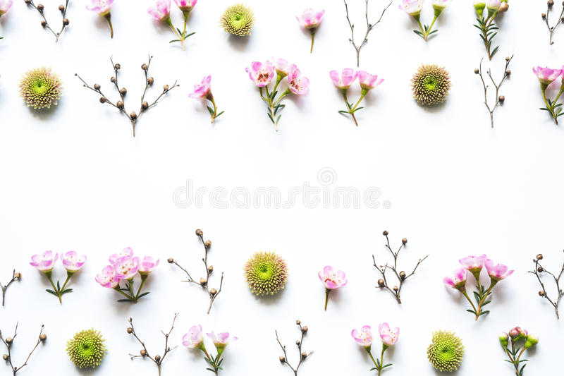 Floral Arrangement On White Background stock photo