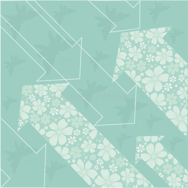 Download Floral arrows stock vector. Image of garden, pattern, seamless - 8991897