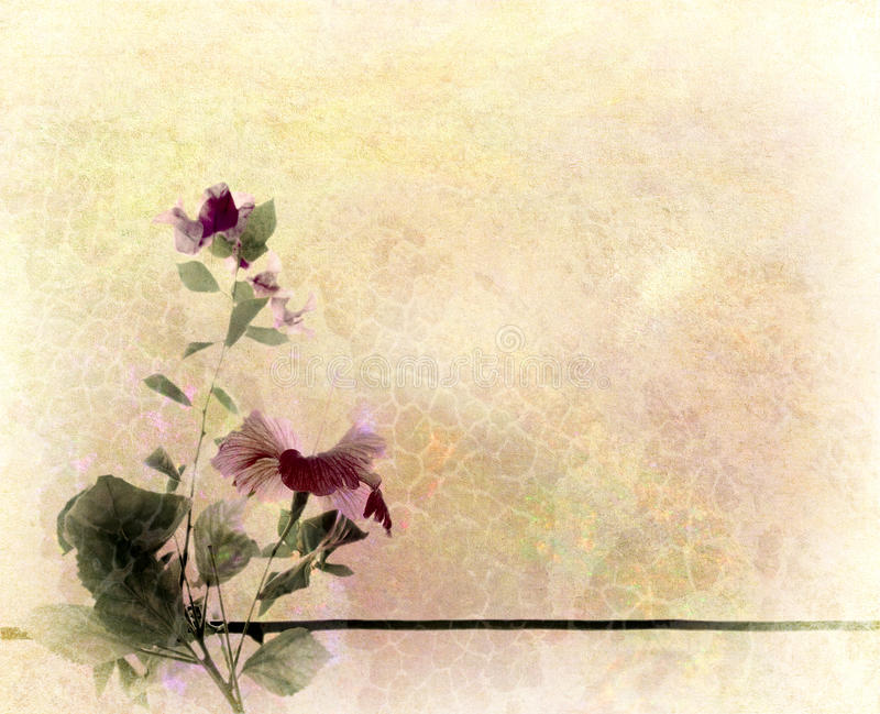 Floral Art Textured Background royalty free illustration