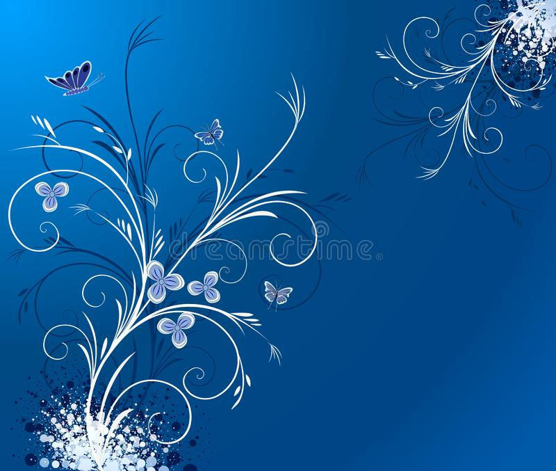 Floral artistic vector design royalty free stock photo
