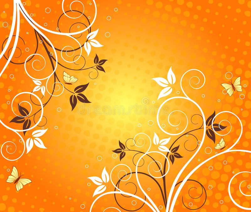 Floral artistic vector design. Floral artistic vector background design stock illustration