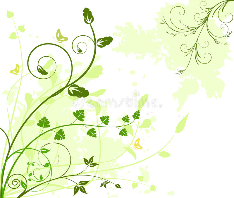 Floral artistic vector design background. Floral artistic vector design decor background illustration royalty free illustration