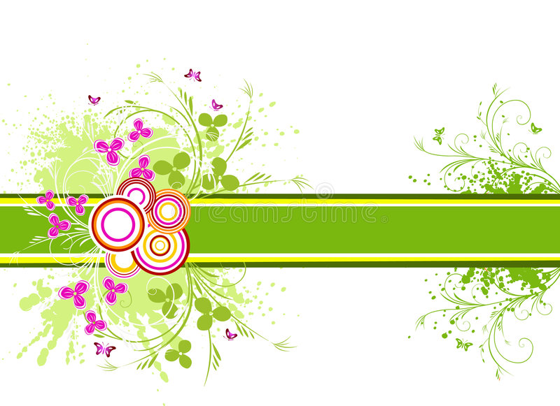 Floral artistic vector design background. Illustration royalty free illustration