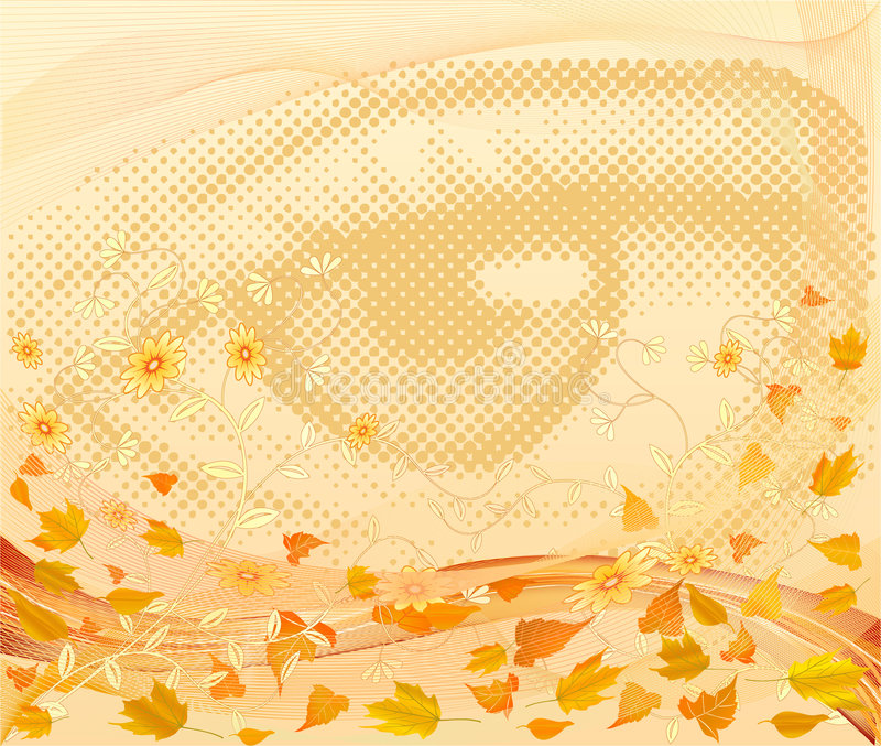 Floral artistic vector design background. Illustration vector illustration