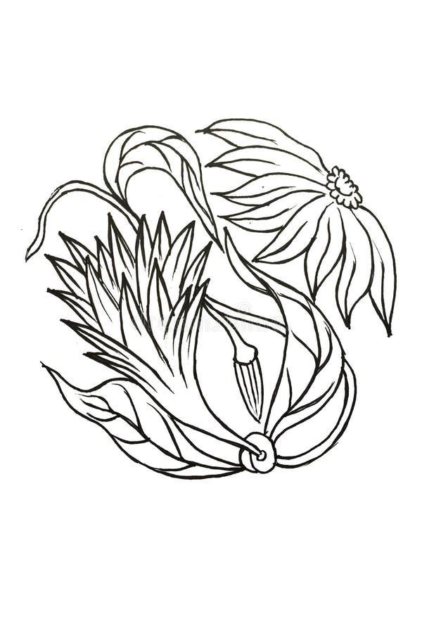 Floral asiático inconsútil Modelo inconsútil del batik Fondo en vector stock de ilustración
