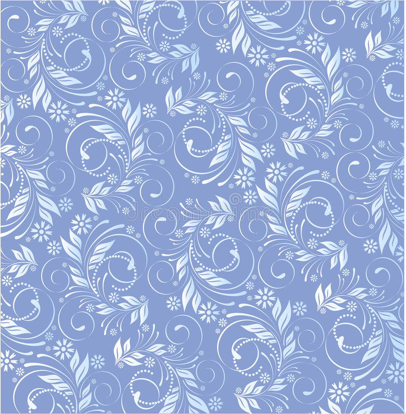 Floral azul do vetor ilustração do vetor