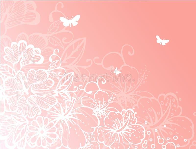 Floral back vector illustration