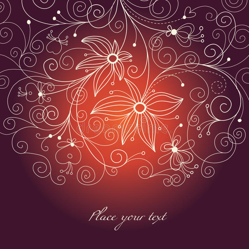 Floral background. Beauty greeting card or invitation stock illustration