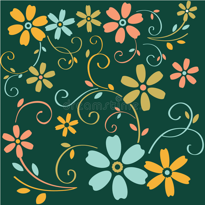 Floral background. Abstract background with nature theme stock illustration