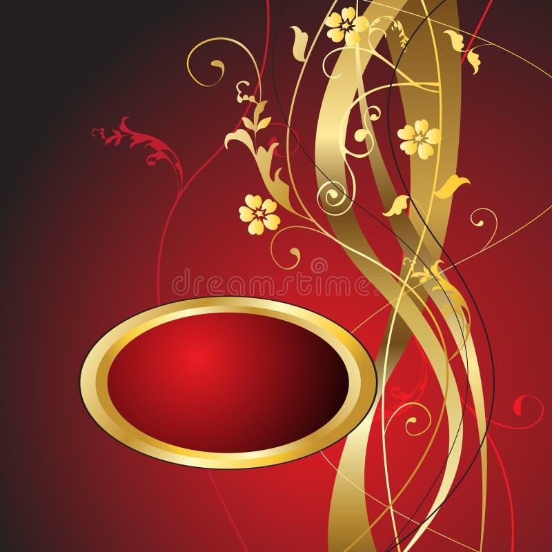 Download Floral Background stock vector. Image of artwork, gold - 12911318