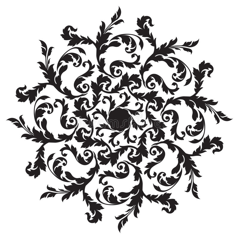 Download Floral background stock vector. Illustration of contour - 1407886