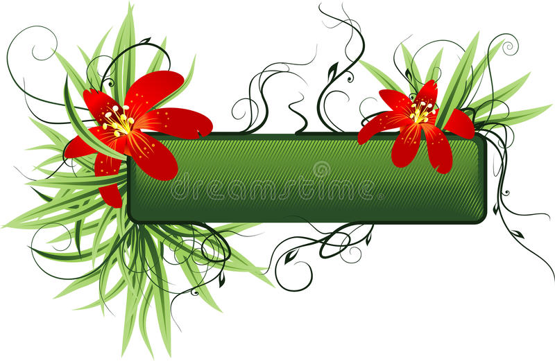 Download Floral background stock vector. Image of advert, frame - 18543683