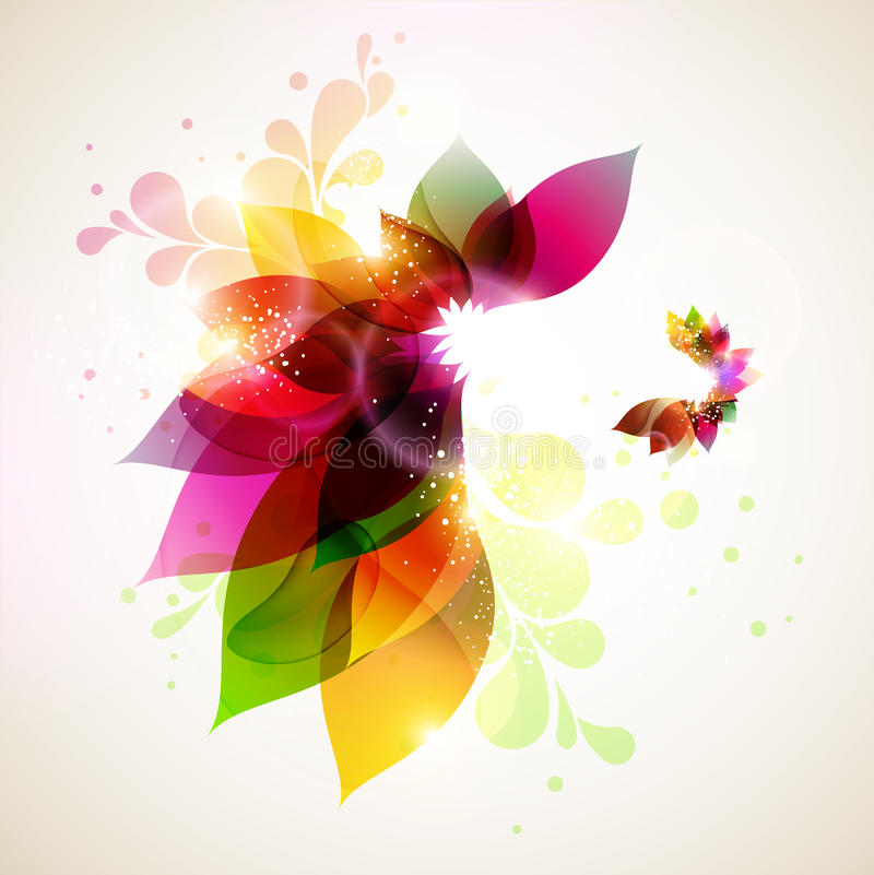 Floral background. royalty free illustration
