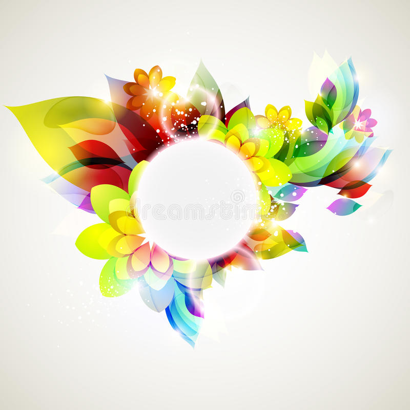 Floral background. vector illustration