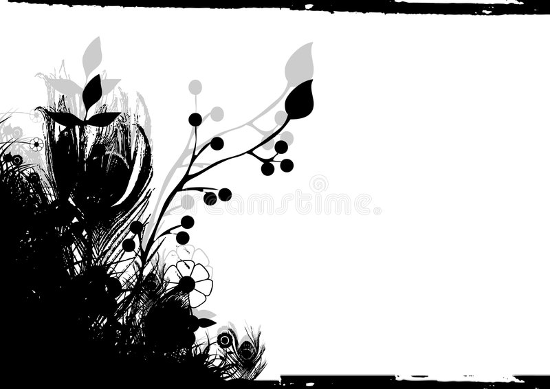 Floral background. Generic floral silhouette background illustration vector royalty free illustration