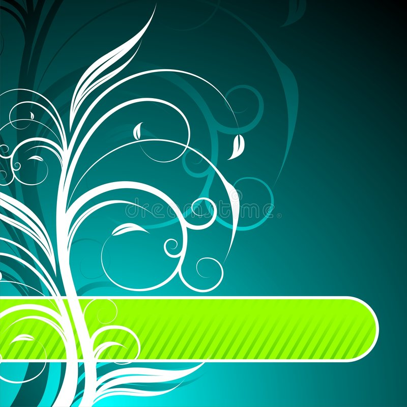 Floral background. With text space stock illustration