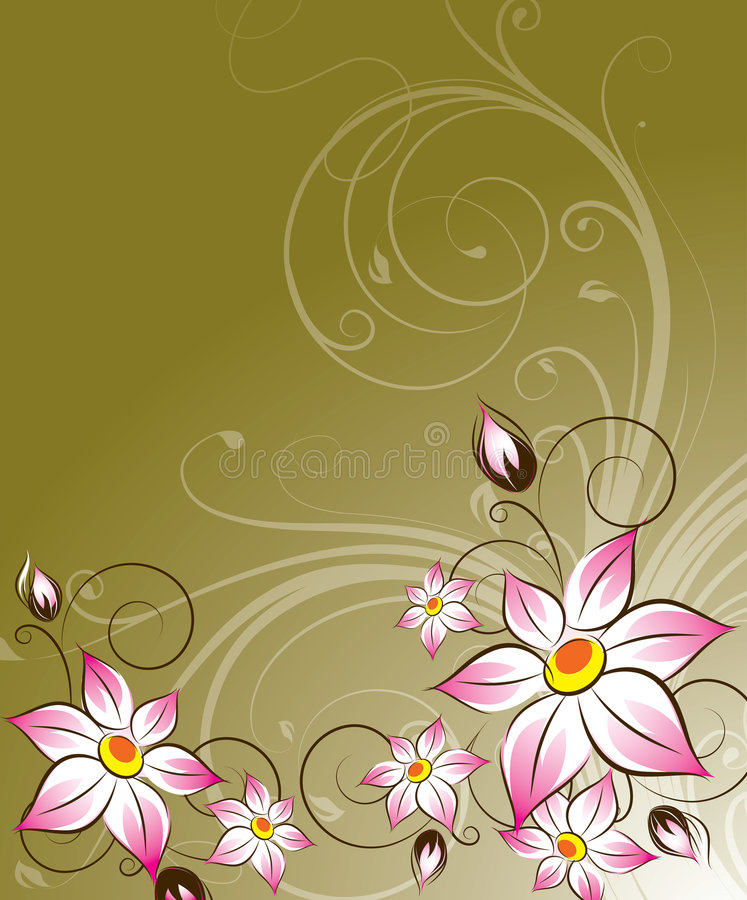 Floral background. Abstract floral background. A vector format is added. Suits well for a postcard or background stock illustration