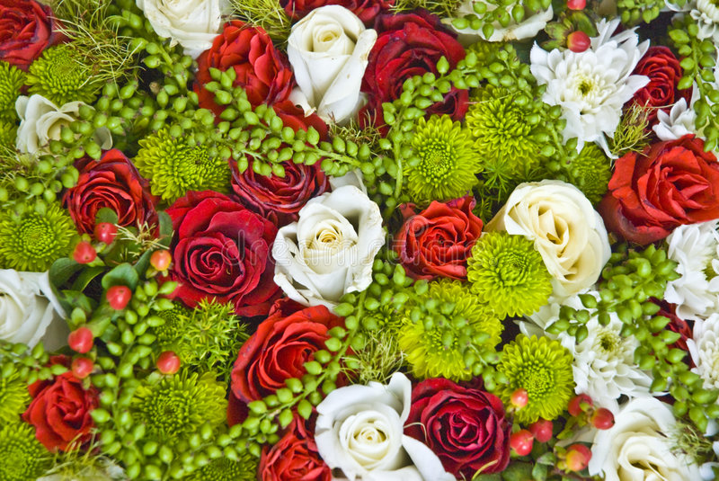Floral background. Beautiful flowers mix stock photo