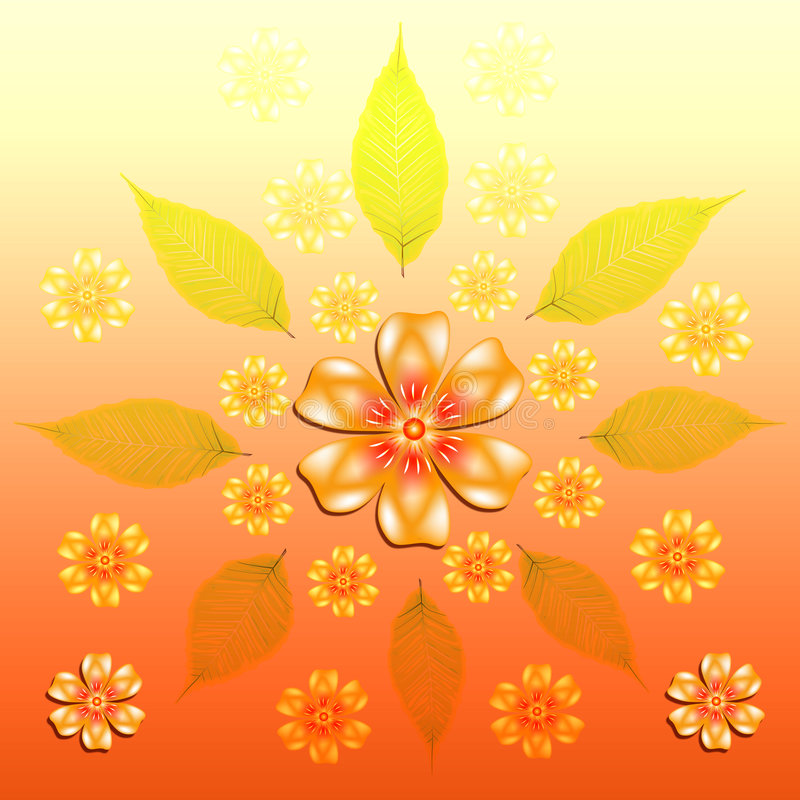 Download Floral background stock illustration. Image of tree, gradient - 9168000