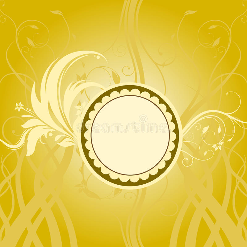 Floral background and circle royalty free illustration