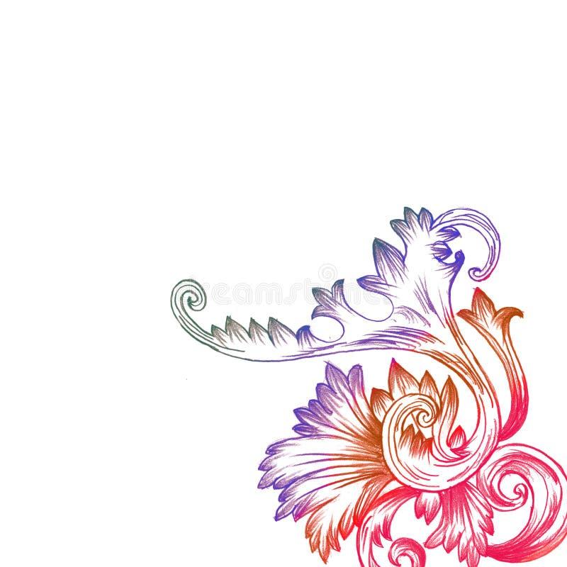 Floral background. Decoration foliage ornament petal, curl concept, sign symbol celebration light decor element morning shape season modern fantasy, creative royalty free illustration