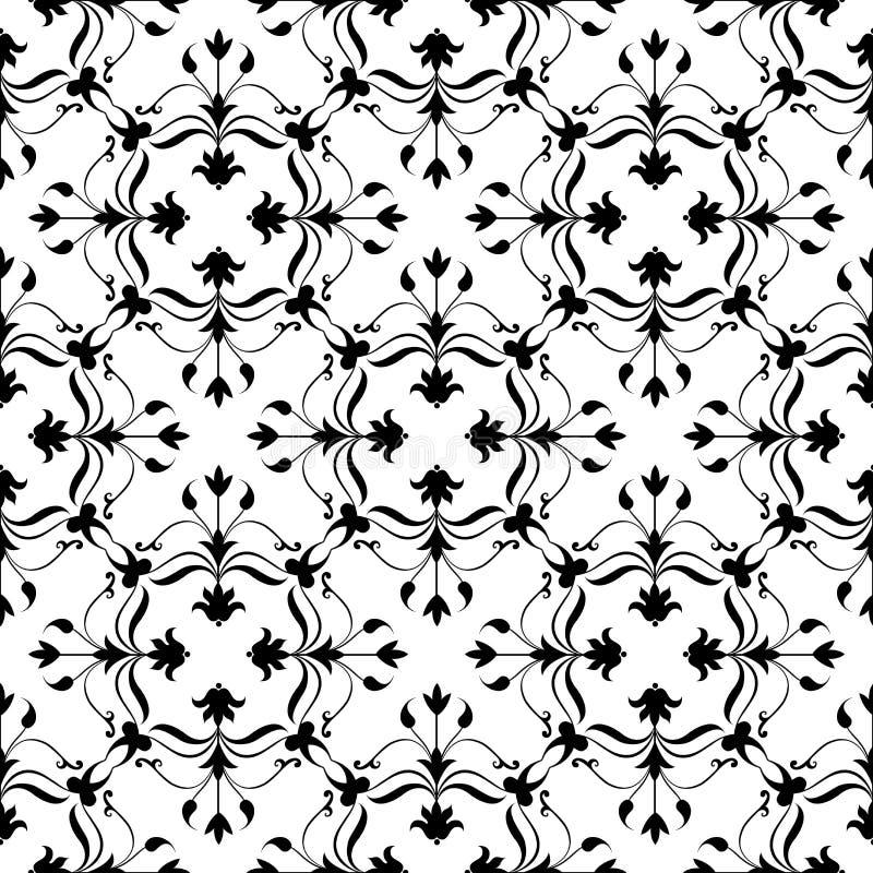 Floral background. Decorative Vector illustration. Monochrome pattern. Elegant element for design template. Lace decor for birthda stock illustration