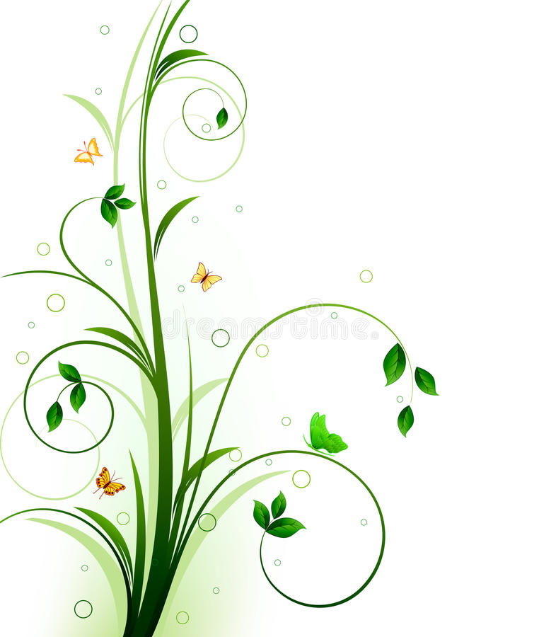 Floral background design stock photography
