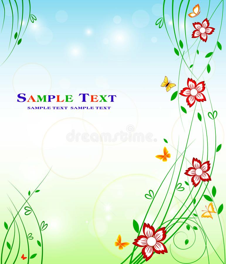 Floral background design - art stock decoration beauty stock illustration