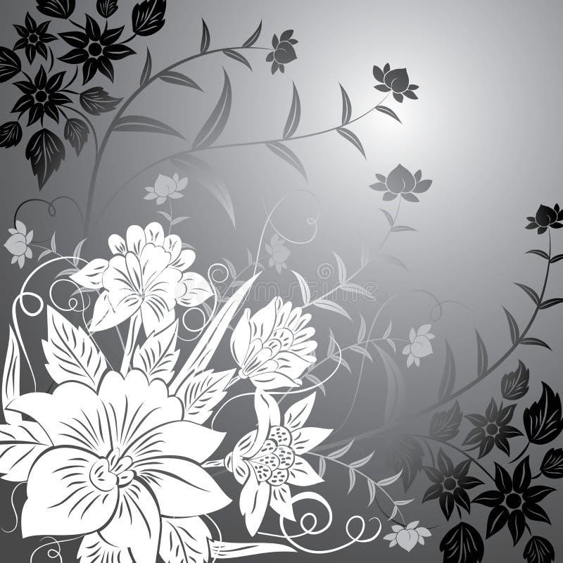 Floral background, elements for design, vector stock illustration