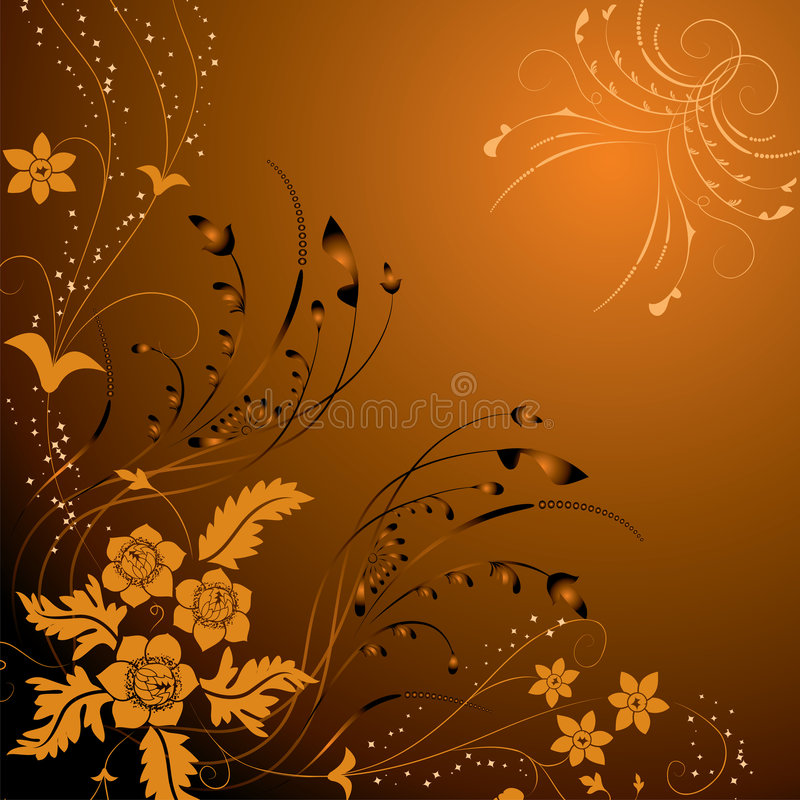 Floral background, elements for design, vector vector illustration