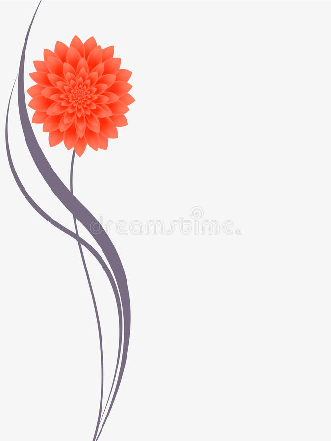 Floral background with flower dahlia. royalty free illustration
