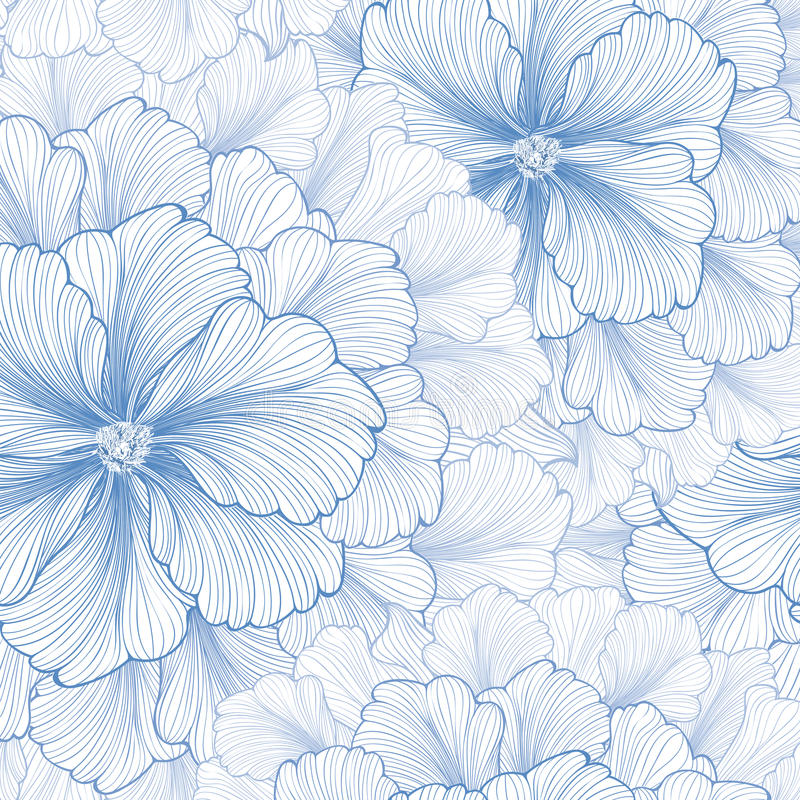 Floral background. Flower pattern. Flourish seamless texture. D wallpaper for greeting card royalty free illustration