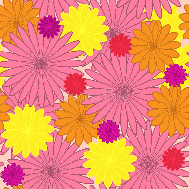 Download Floral Background. Flower Seamless Texture Stock Vector - Illustration of illustration, silhouette: 23875122