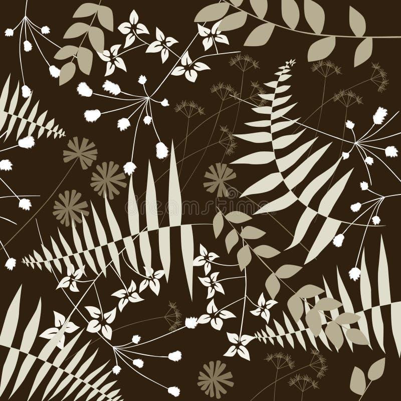 Floral background, forest vector illustration