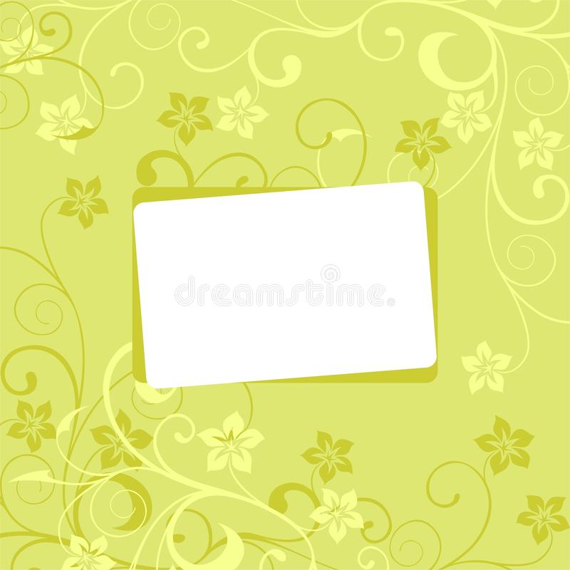 Floral Background In Green Tones With A Framework Stock Photos