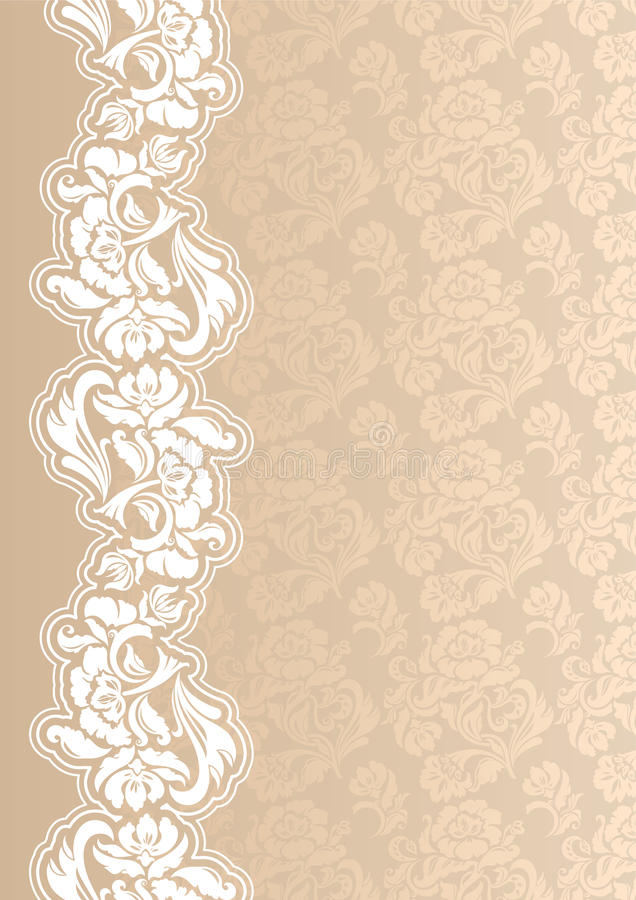 Floral background with lace for greeting card vector illustration
