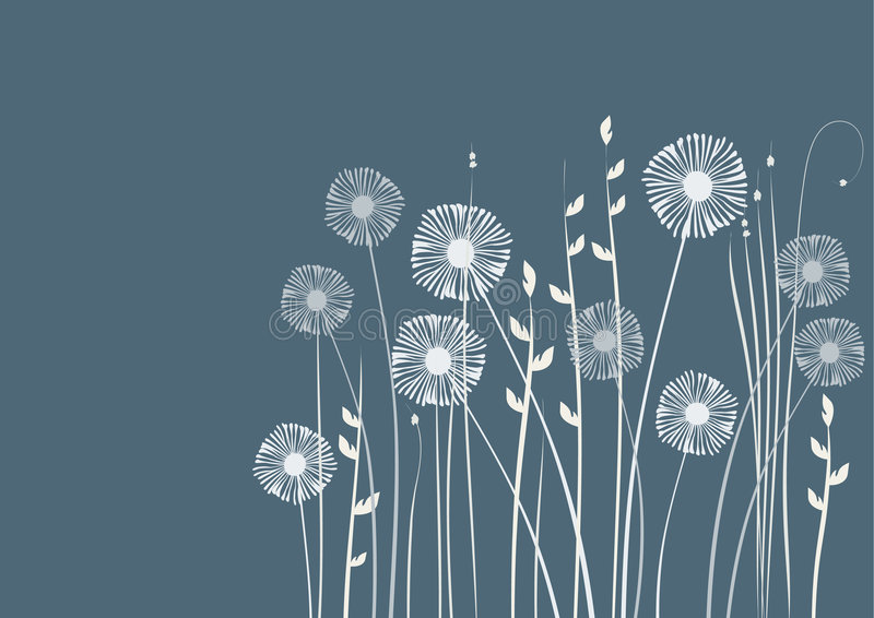 Floral background, meadow, garden stock illustration
